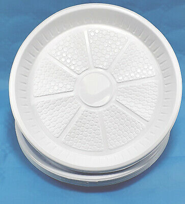 Strong White Plastic Dinner Plates Party Disposable Plates Home BBQ Birthday New