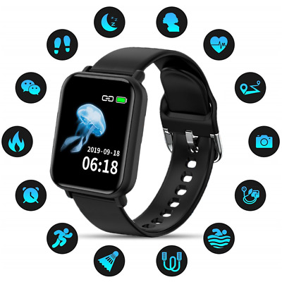 For HUAWEI iPhone Samsung Smart Watch Blood Pressure Fitness Tracker Waterproof