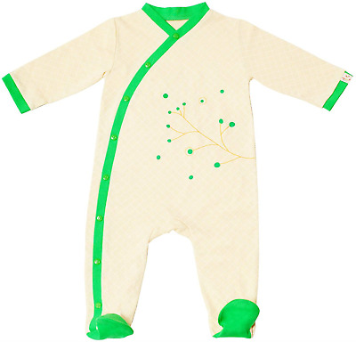 Pandi Panda Pyjamas with Feet - Green - One Size