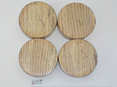 4 English Spalted Ash woodturning or wood carving bowl blanks. 115 x 38mm. 3950A