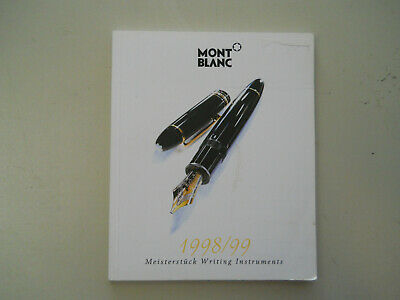 Mont Blanc Vintage l998-99 Full Color Catalog--88 pages