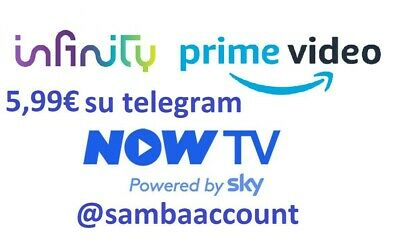 NOW TV 14 GIORNI  + INFINITY 1 MESE +AMAZON PRIME VIDEO(5,99 su telegram)