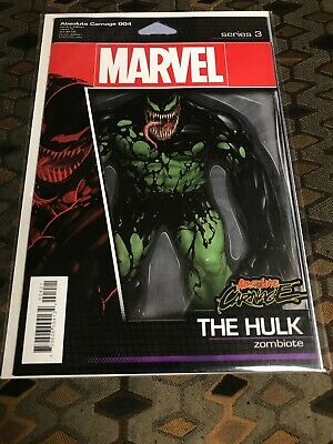 Absolute Carnage #4 (004-Venom / Hulk Zombiote Action Figure Variant-(9.4-9.6)