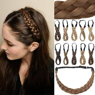 UK Stranded Hair Plait Thick Chunky Braided Hairpiece Wrap on Headband Hairband