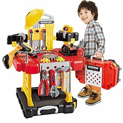 Toy Tool, 100 Pieces Kids Construction Toy Workbench for Toddlers Kids