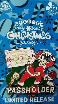 Disney Parks 2019 Mickey's Very Merry Christmas Party Passholder Goofy Pin New