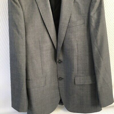 J.crew Crosby Suit Jacket With Center Vent In Italian Worsted Wool Size 40L Grey