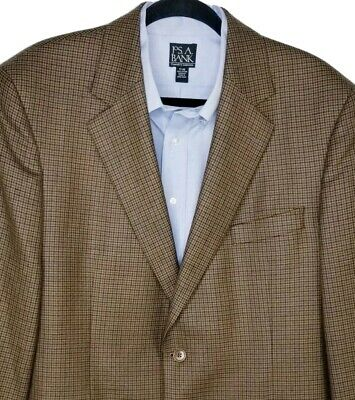 Brooks Brothers Mens Sport Coat Sz 43R 2 Button Blazer Brown Gray 100% Wool