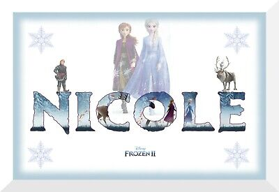 Personalised Frozen 2 wall name art poster Ana, Olaf and Elsa free P+P