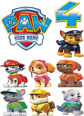 Edible Paw Patrol Icing Images Mix or single Dogs or Badges Cake Decorations