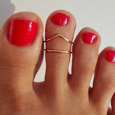 Female Rose Gold Silver Plated Toe Ring Special Finger Foot Rings Jewelry DB