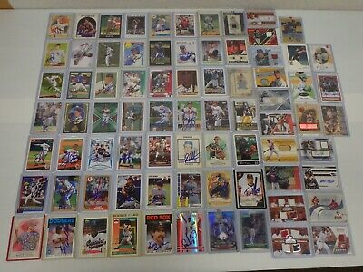 LOT OF 77 SIGNED AUTOGRAPH & GAME USED CARDS Baseball, Football, Basketball, NHL