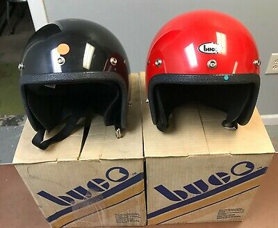 Vintage All Sport White Safety Motorcycle Helmet NIB Made in USA Adult Small NOS