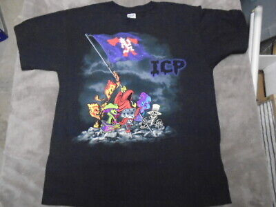RARE OOP Insane Clown Posse SHIRT large Raising the Hatchet flag ICP rap twiztid