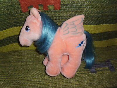 My Little Pony pink blue plush toy Firefly pegasus Hasbro Softies vintage 10""