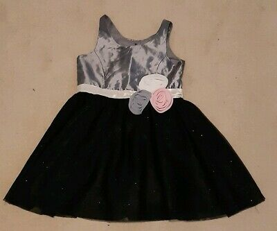 Baby girls H&M grey black sleeveless occasion party dress age 1.5-2 years