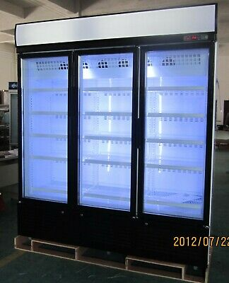 3 door vertical ventilated freezer