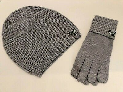 Coach F32954 Knit Tech Roxy Gloves Grey W/Matching Hat