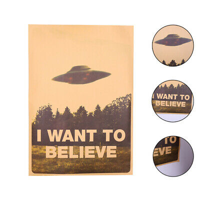 "Vintage Classic X DATEIEN ""I Want To Believe"" Poster Home Decor Wandaufkleber"
