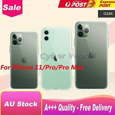 Clear Case For iPhone 11/11Pro/11 Pro Max Thin Soft Silicone Shell Phone Cover