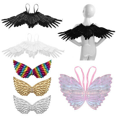 Feather Angel Swallow Wings Christmas Adults Fancy Dress Party Costume Hen Night