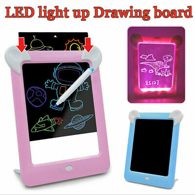 MagicToy Pad Light Up Drawing Pad with Neon Pen Creative Glow Art Light Effect