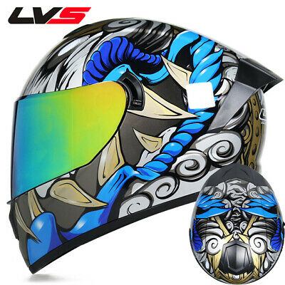 Full Face Motorcycle Riding Helmet Safety Double Lens Warm And Windproof Helmets