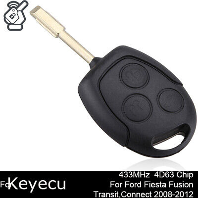 New Remote Key Fob 433Mhz 4D63 Chip For Ford Fiesta C-Max Fusion Transit Connect