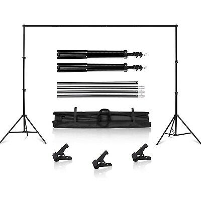Heavy Duty Backdrop Stand Kit 10Ft Adjustable Background Support Photography NEW