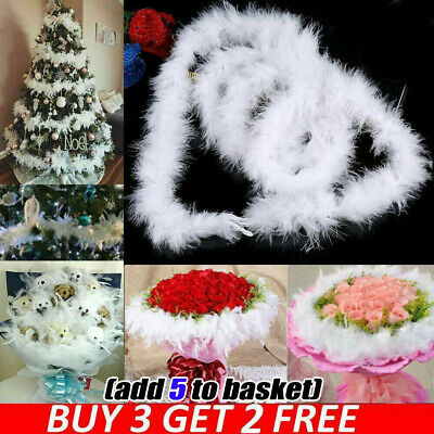 White Feather 2M Christmas Tree Xmas Ribbon Boa Strip Party Garland Decoration -