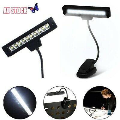 Flexible LED Book Light Portable AAA Battery Clip On Music Stand Reading Lamp