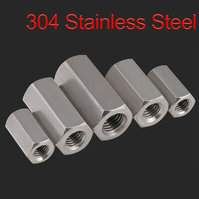 Hex Rod Coupling Nuts Bar Stud Long Nut - A2 304 Stainless Steel M5-M24 ALL SIZE