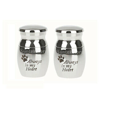 2pcs Alway in Heart Keepsake Cremation Ashes Urn Funeral Container Jar Small