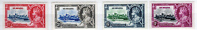 Set Of 4 Very Lightly Mounted Mint St Helena Silver Jubilee Sg 124-27 1935 F16