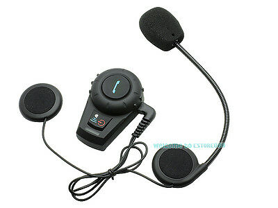 FDC Motorcycle Bicycle Bluetooth Interphone Headset Intercom+ Earpiece+ Bracket
