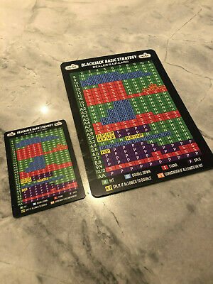 2 Never Split 10's Blackjack Strategy Plastic Cards Large and Small