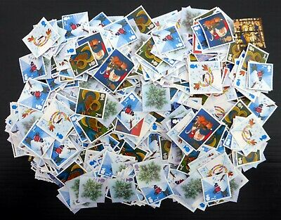 GB Unfranked Off Paper 2nd Class Xmas x 1,000 Stamps NS652