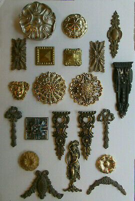 Ornate French Antique Style Decorative Furniture Metal & Brass Embellishments