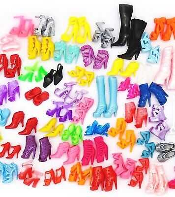 Barbie Doll Shoes Lot Of 10 New Pairs Of Assorted Shoes US Seller Quick Ship