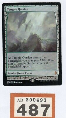 MTG Magic the Gathering - Temple Garden - Foil - Masterpiece: Expeditions