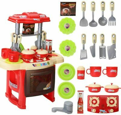 Kitchen Cooking Toy Toddler Children Kids Cooker Role Chef Play Set Kit