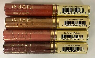 Iman Luxury Lip Shimmer Lot Of 6 (Choose Your Color) .25 Oz Each