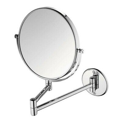 Chrome Round Extending 8inches wall mounted makeup/shaving bathroom mirror