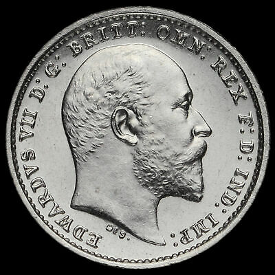 1906 Edward VII Silver Maundy Twopence, UNC