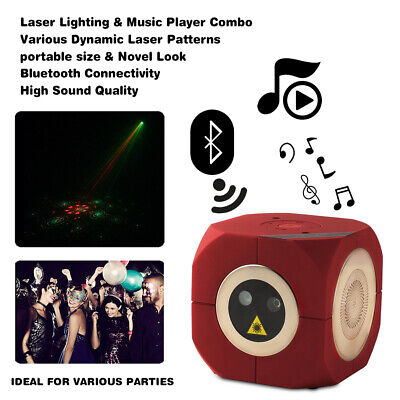 Portable Audio Bluetooth Music Speaker Player Laser Light USB Charge Xmas Party