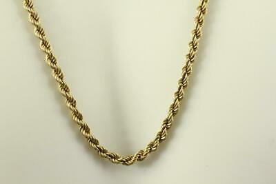 """Fine Estate Jewelry 14KT Solid Yellow Gold Rope Twist Necklace Chain 16"""""""