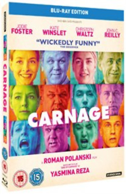 Jodie Foster, Kate Winslet-Carnage Blu-ray NEW