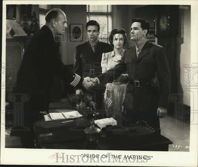 """1989 Press Photo John Garfield and co stars in """"Pride Of The Marines"""""""