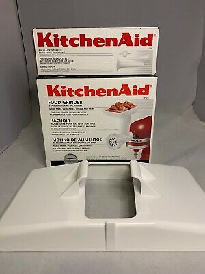 New KitchenAid Stand Mixer Food Grinder Sausage Stuffer Tray Attachments Large