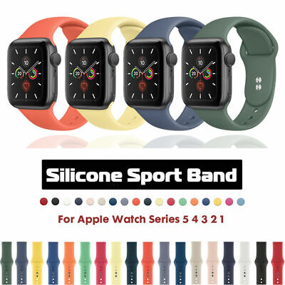 45 Colors Silicone Watch Band Sports Strap For Apple iWatch Series 5 4 3 2 44MM